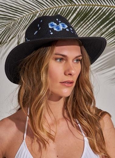 Morhipo Beach Nakış Detaylı Şapka Siyah
